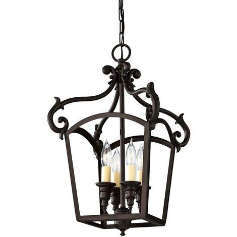 Elstead Luminary - 4 Light Ceiling Chandelier Pendant Light Bronze, E14