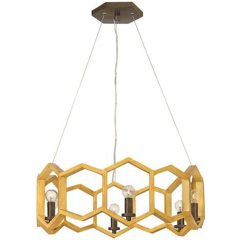 Elstead Moxie - 6 Light Ceiling Pendant Gold, E14