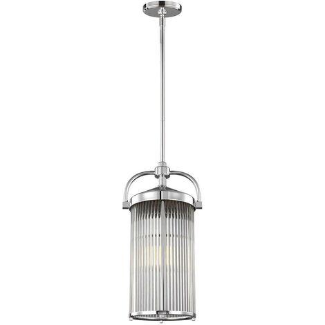 Elstead Paulson - 3 Light Ceiling Pendant Light Chrome IP44, G9