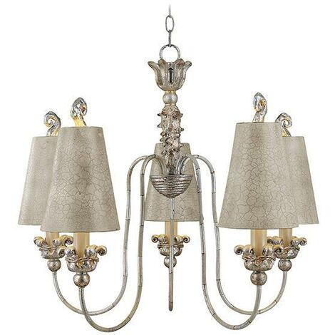 Elstead Remi - 5 Light Multi Arm Chandelier Gold And Silver Finish, E27