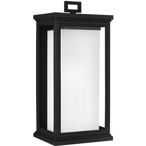 Elstead Roscoe - 1 Light Outdoor Large Wall Lantern Light Black IP44, E27
