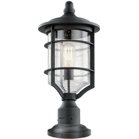 Elstead Royal Marine - 1 Light Medium Outdoor Pedestal Light Black IP44, E27