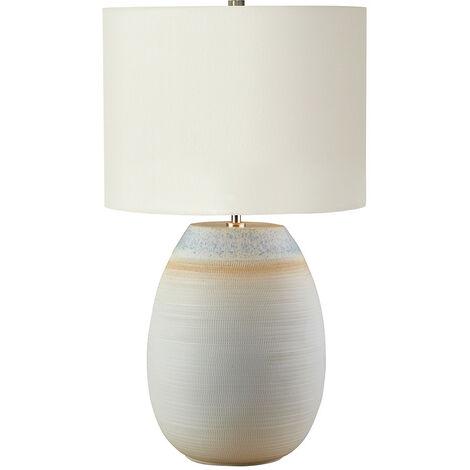 Elstead Seychelles - 1 Light Table Lamp - Blue, Sand Finish, E27