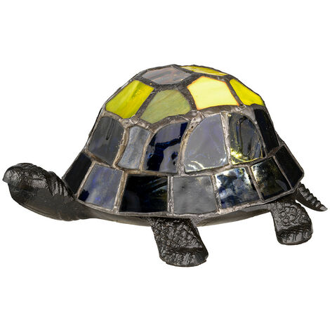 Elstead Tiffany Animal Lamps Integrated LED Tortoise Tiffany Lamp, Vintage Bronze