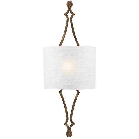 Elstead Tilling - 1 Light Indoor Wall Light Gold Leaf, E27