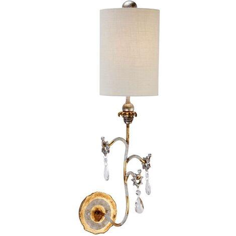 Elstead Tivoli - 1 Light Indoor Wall Light Gold, Cream, E27