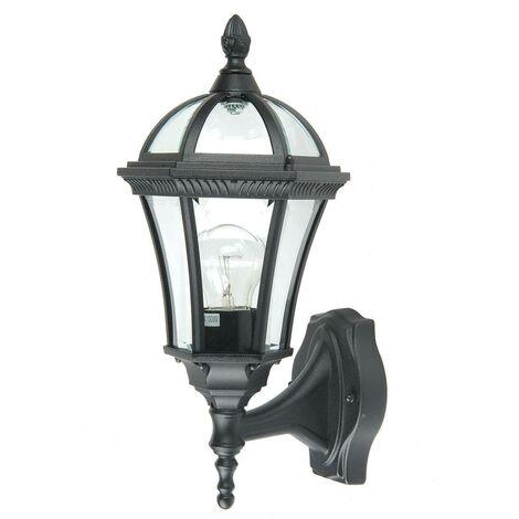 Elsteadbury - 1 Light Outdoor Wall Lantern Light Black IP44, E27