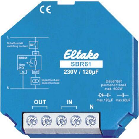Eltako 61100330 Limitazione di corrente relè capacitivo 230V/120 Mikrofarad. 1 dispositivo di chiusura 10 A/250 VCA Blu