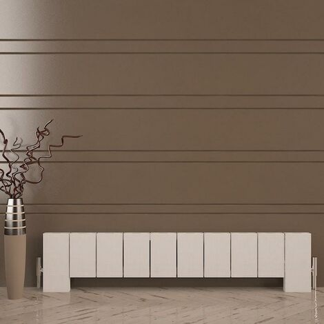 Elvino Floor Aluminium Radiator 300x1245 2070 BTUs Textured White