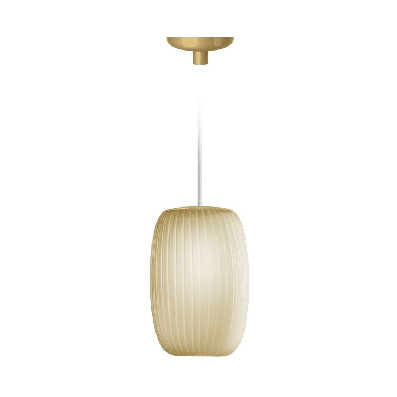 Homemania - Ely Haengelampe - Kronleuchter - Deckenkronleuchter - Gold aus Glas, 11,2 x 11,2 x 16,9 cm, 1 x G9, Max 48W, 220-240V