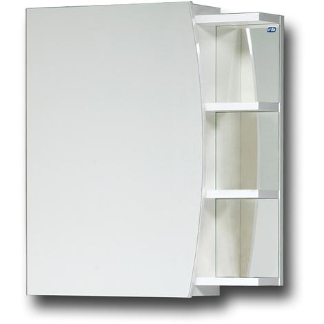 Elza Bad Spiegelschrank 50 cm Einseitig verspiegelt mit Ablage und  Soft-Close Badezimmer Schrank Spiegel Spiegelschrank