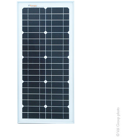EM - Panel Solar monocristalino rígido 25W de alto rendimiento