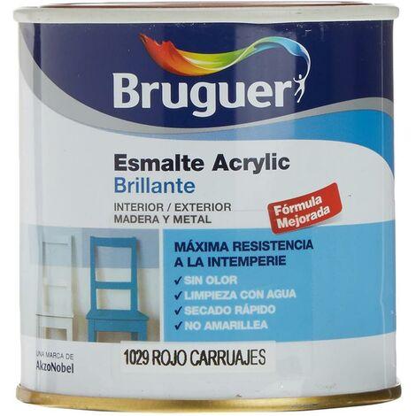 Émail acrylique brillant intérieur, extérieur sans odeur 250 Ml Rouge Carriage Brug