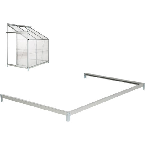Embase en Acier pour Serre de Jardin Polycarbonate Adossée 2,39 m²