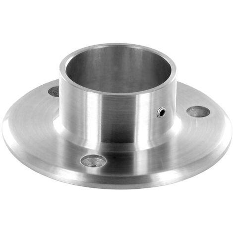 Embase Murale pour tube Diam 42,4mm en inox brossé AISI 304
