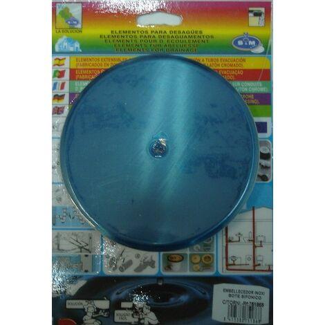 Embellecedor Baño Sifon 135mm Inox S&m
