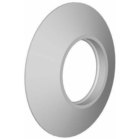 Embellecedor blanco de silicona para tubo de 80 de Dinak