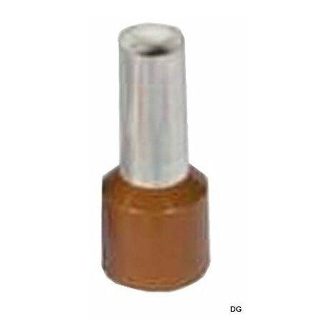 Embout de câblage simple - 10mm² - Brun - Sachet de 100 pièces
