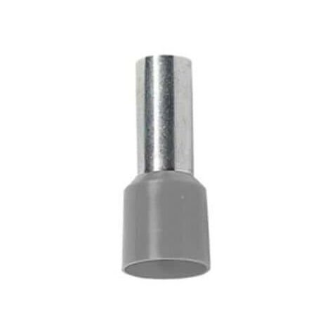 Embout de câblage simple 2.5mm2 Gris BizLine x100