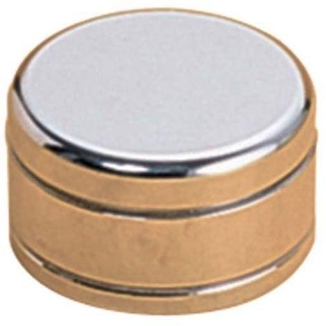 Embout de finition - Diamètre : 67 mm - Hauteur : 39 mm - Décor : Chromé - Pour tube de diamètre : 50 mm - Matériau : Zamak - TCASYSTEM