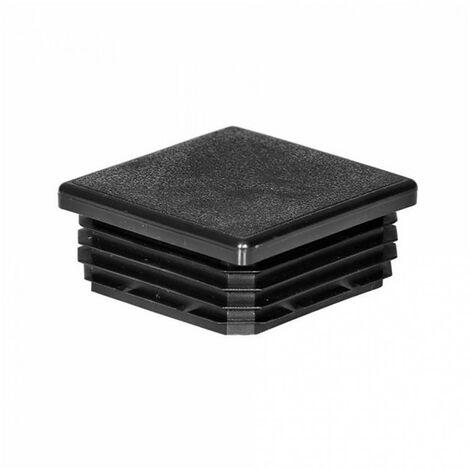 Embout de poteaux plastique rentrant carré noir - plusieurs modèles disponibles