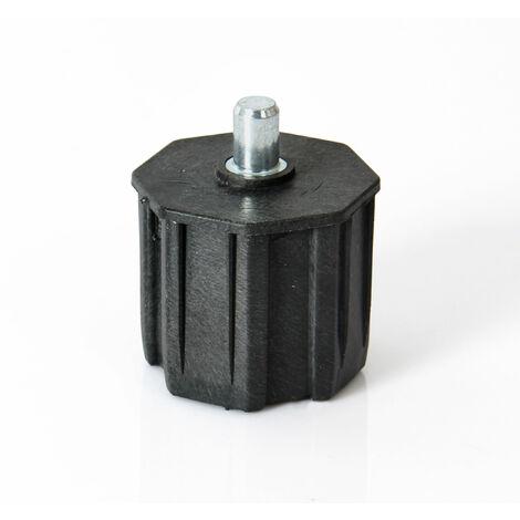 Embout de tube octogonal diamètre 60mm avec pivot intégré
