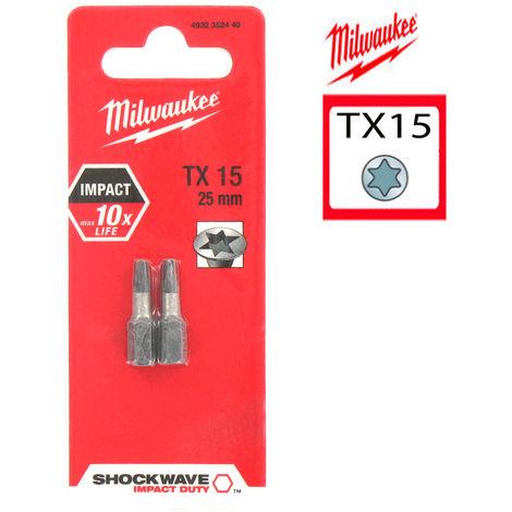 Embout de vissage MILWAUKEE Torx 25 Shockwave 25 mm - 4932352443