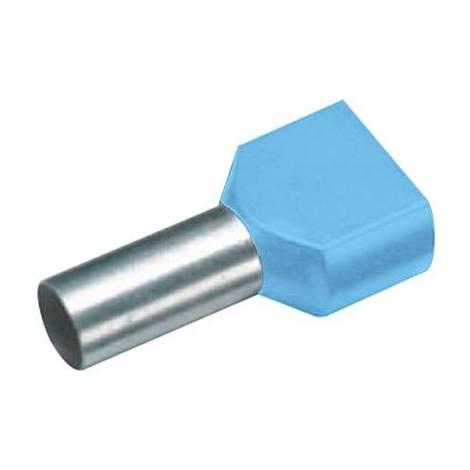 Embout Simple dextr/émit/é de c/âble Vogt Verbindungstechnik 470208 1 x 0.75 mm/² x 8 mm partiellement isol/é Bleu 100 pc s