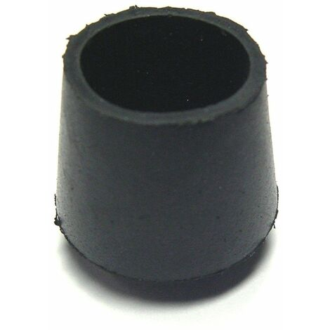 Embout enveloppant caoutchouc noir 25