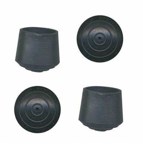"""main image of """"Embout enveloppant caoutchouc noir 25 ø mm 4 pce(s)"""""""