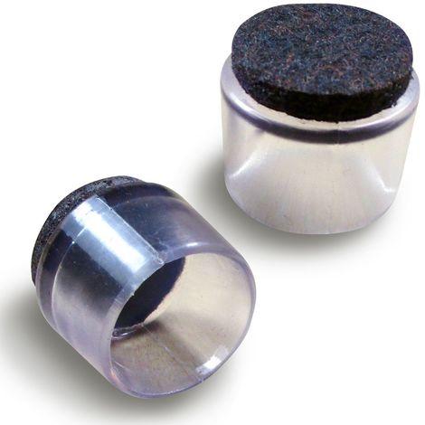 Ajile Embout Enveloppant Pour Tube Diametre Exterieur 12 Mm Avec Semelle En Feutre Anti Bruit Et Anti Rayure Pour Pied De Chaise Evf912