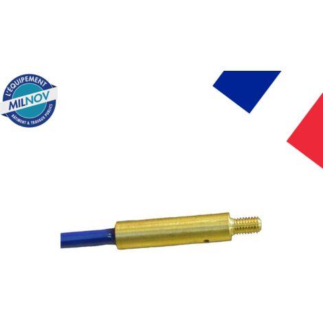 Embout fileté à coller M5 diam. 6 mm
