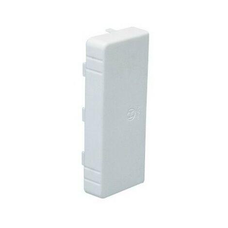 Embout LAN - Pour goulotte 100x40mm - Blanc