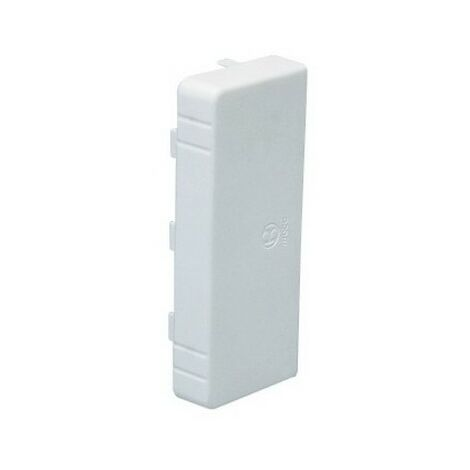 Embout LAN - Pour goulotte 120x80mm - Blanc