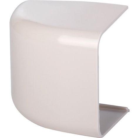 Embout plastique rigide beige Largeur goulotte (mm) 80
