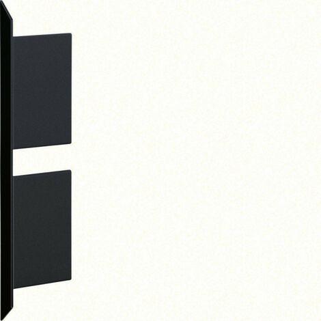 Embout pour BKIS épais 12,5mm double hauteur acier RAL 9011 noir (BKIS121306D9011)