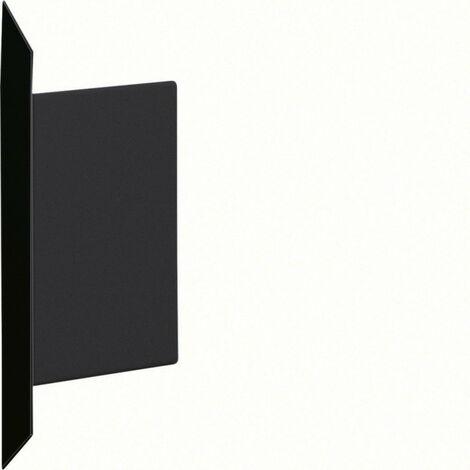 Embout pour BKIS épais 12,5mm simple hauteur acier RAL 9011 noir (BKIS121306E9011)