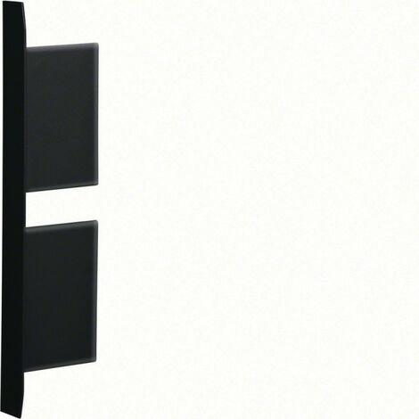 Embout pour BKIS épais 25mm 2 compartiments acier RAL 9011 noir (BKIS251306D9011)