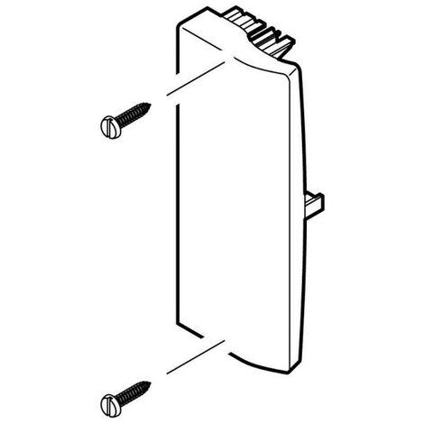 Embout pour goulotte d'installation Logix 45 et Logix Universel 190x50mm blanc Artic (48021)