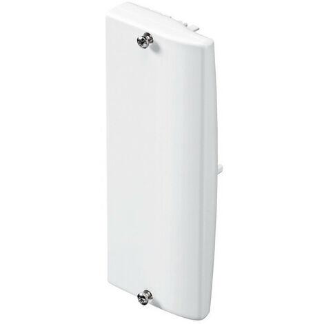 Embout pour goulotte d'installation Logix 45, Logix Universel et PCABS ZH 130x50mm blanc Artic (48010)