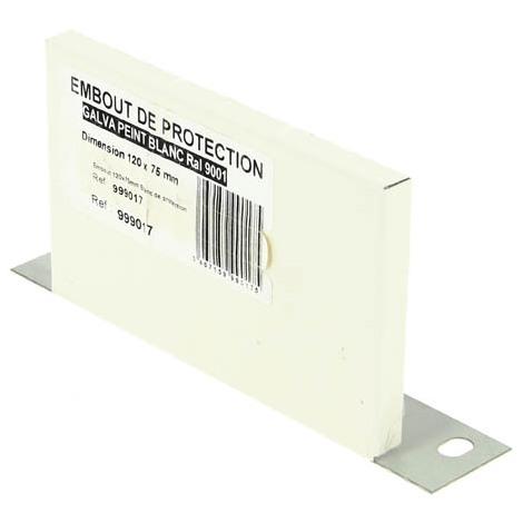 Embout protecteur de liaison galva blanc 120x75mm