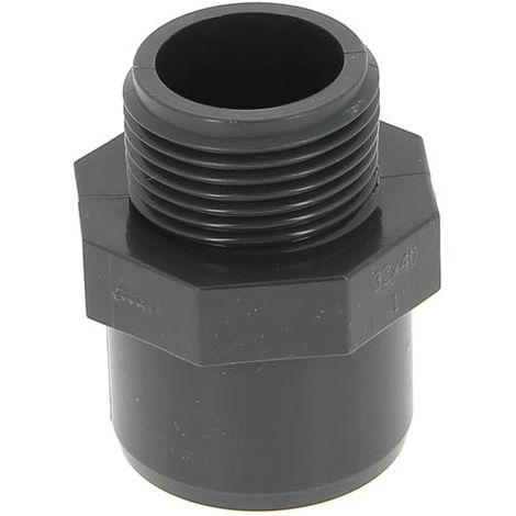 """main image of """"Embout PVC pression fileté B - Mâle à coller / Mâle à visser - Diamètres 50/63 - Filetage 50/60"""""""