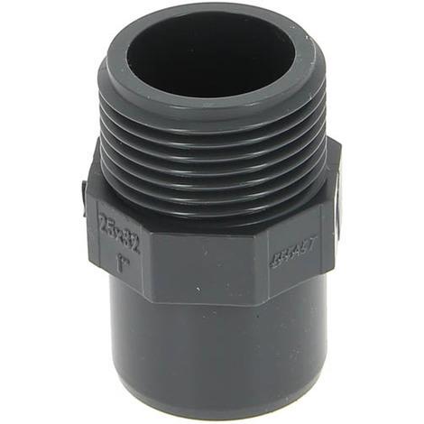 Embout PVC pression mâle-femelle O32-25 mâle 26-34