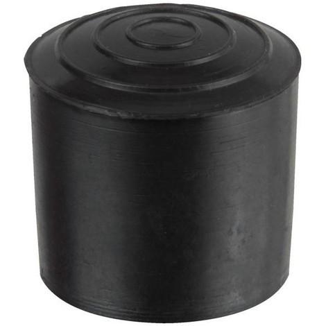 Embout rond enveloppant polyethylene noir diam 14 mm x50 pcs
