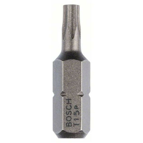 Embout Torx T 15 extra-dur 25 mm 1/4 (lot de 10) - Bosch 2607001608