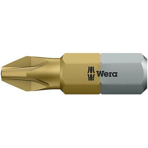 Embout WERA Pozidriv revetement TiN, PZ2x25mm