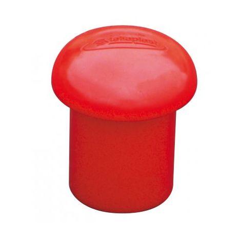 Embouts de sécurité fer à béton grand modèle rouge x 100 TALIAPLAST