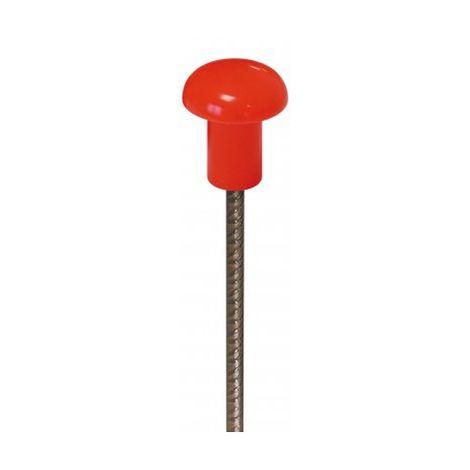 Embouts de sécurité fer à béton petit modèle rouge FLUO x 125 TALIAPLAST