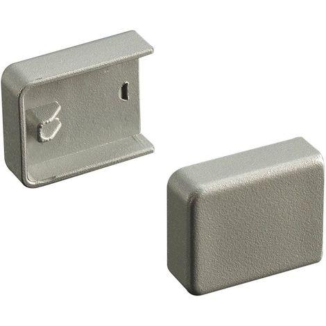 Embouts pour profil support - Décor : Gris - Matériau : PVC - MENAGE&CONFORT