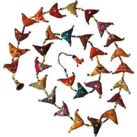 Embrase pour rideaux en tissu triangles colorés